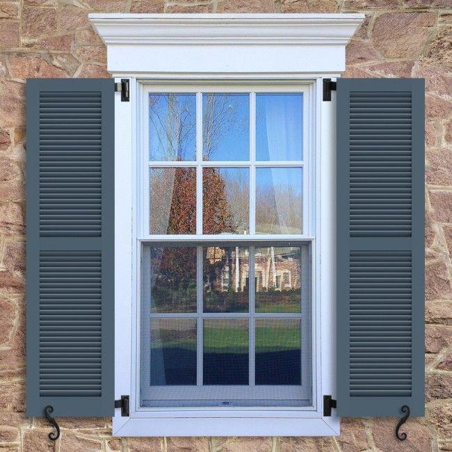 Exterior Louvered Shutters Louver Profiles Inspiration Timberlane Window Trim Exterior House Shutters Shutters Exterior
