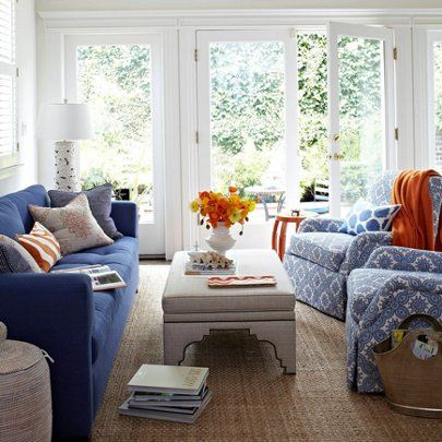 A comfy-cool take on English country. | Living room decor ...
