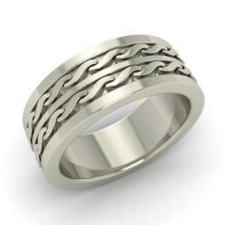 Men's Ring in 14k White Gold