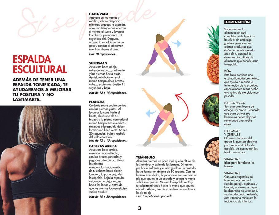 Ginmedia Vida Fit Ejercicios Y Dieta Fáciles En Casa Mujer De 10 Página 7 Ejercicios Ejercicios Para Adelgazar Barriga Ejercicios De Entrenamiento