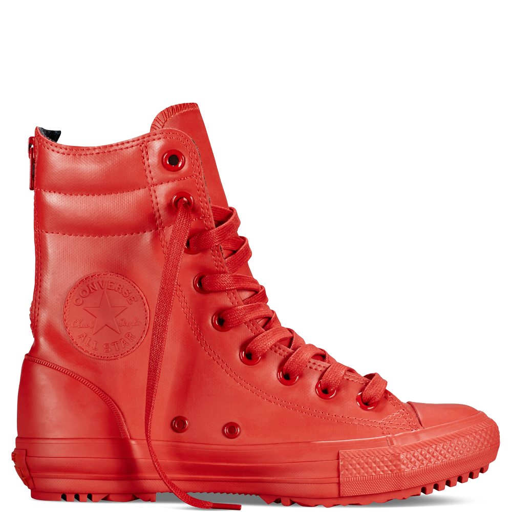50f3a22474602 Botas altas Chuck Taylor All Star de goma Rojo Rojo Rojo
