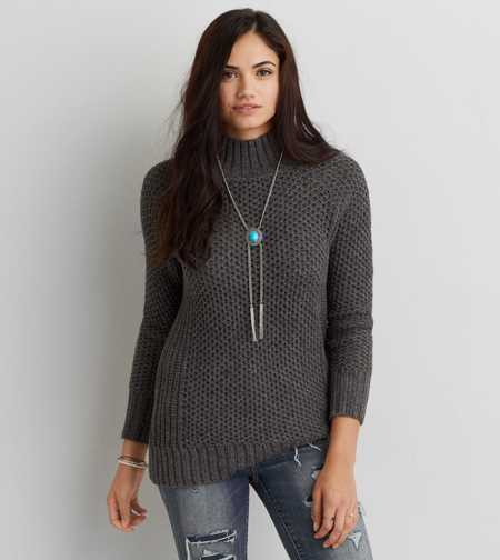 6fd09ca21010d AE Ribbed Mock Neck Pullover | Clothes | Pinterest | Sweaters ...