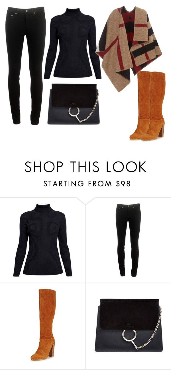 """jkiu"" by v-askerova on Polyvore featuring мода, Rumour London, rag & bone, Chloé и Burberry"