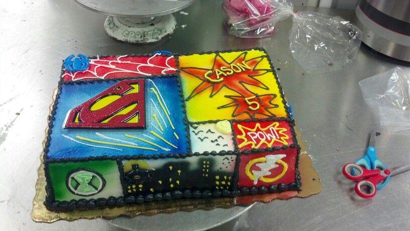 Comic Book Cake By Wendy Berghuis Superhero Birthday Cake