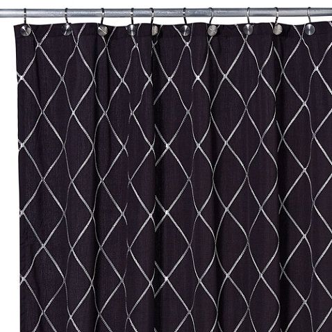 Buy Wellington Shower Curtain In Black White From Bed Bath