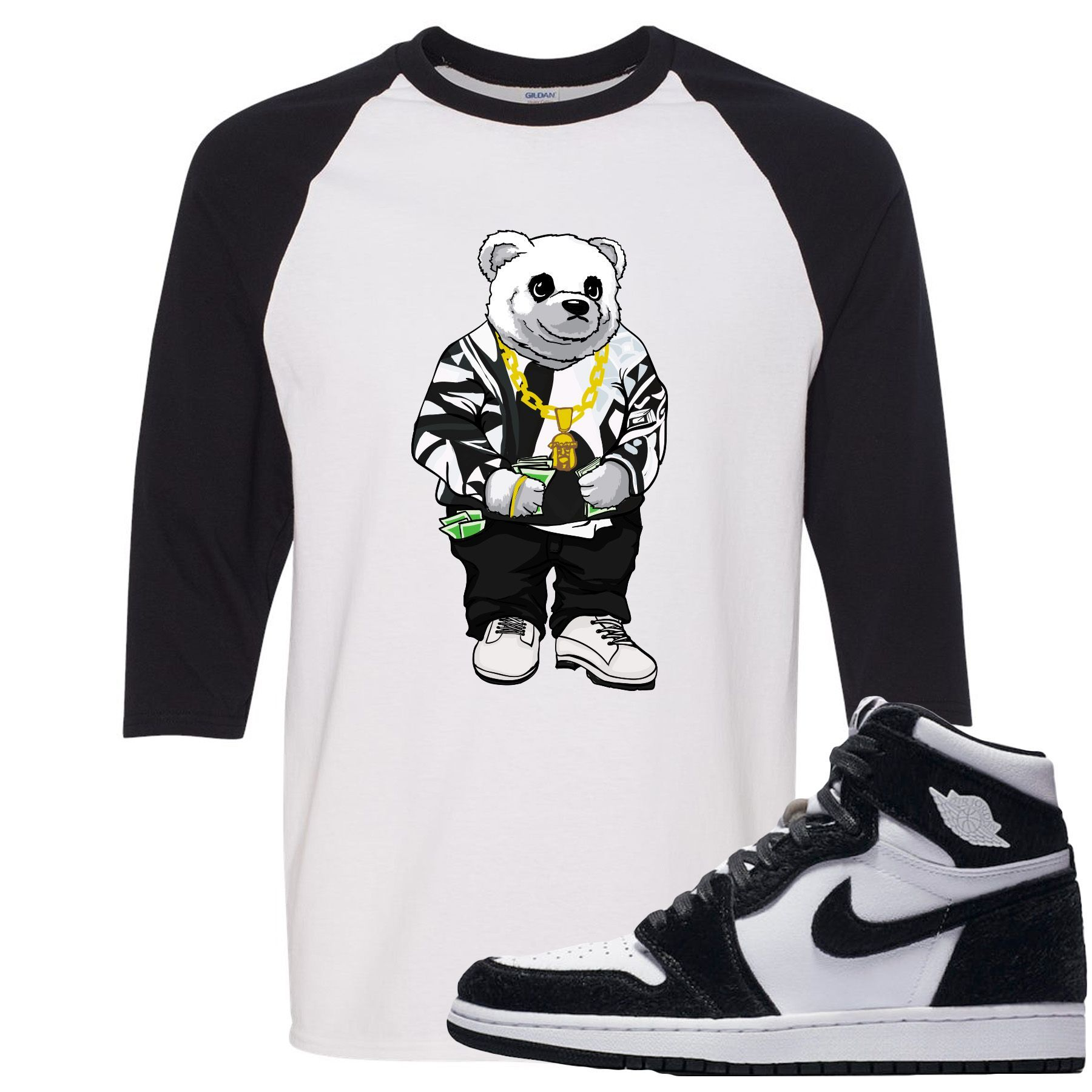 Jordan 1 Retro High OG WMNS Panda Sneaker Hook Up Sweater