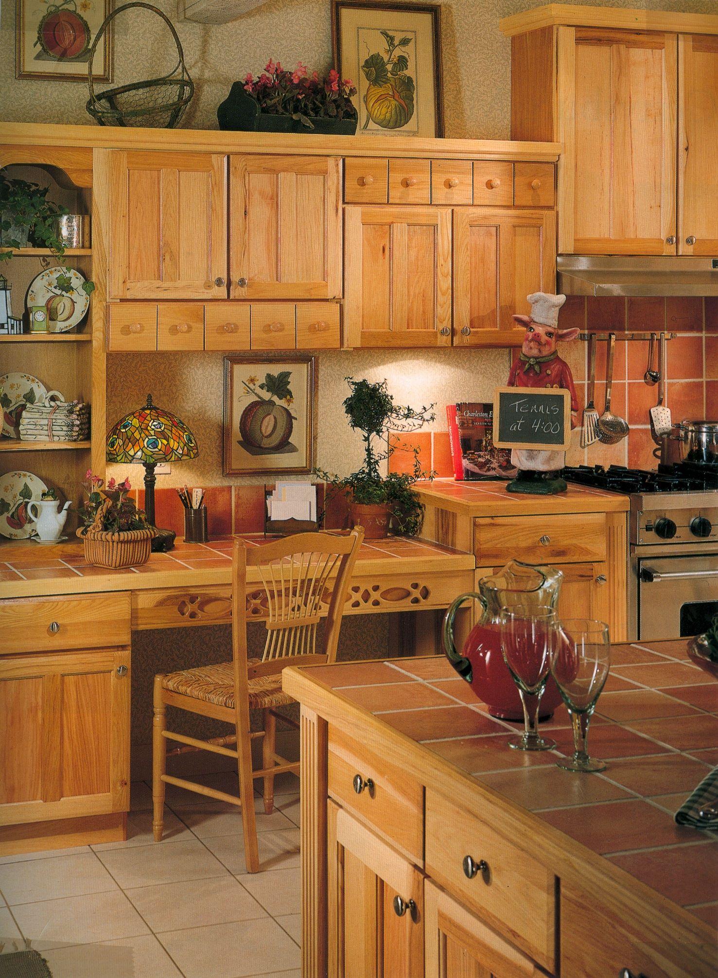 Küchenideen mit dunkelbraunen schränken desk work area  bauernküchen in   pinterest