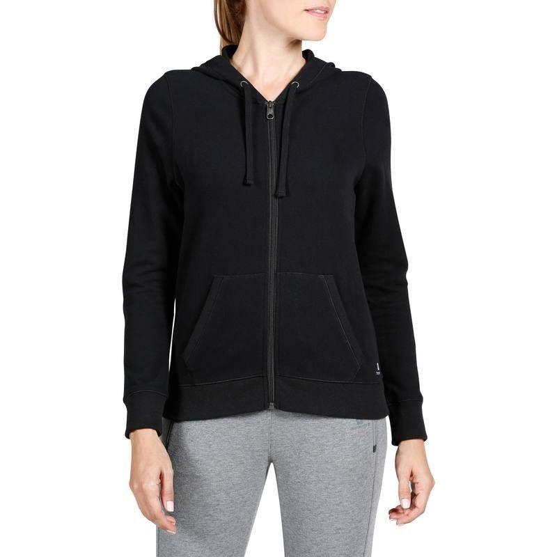 7700b7fa2909 GROUPE 1 Gym Stretching - Veste zippée capuche fitness DOMYOS - Vêtements  femme