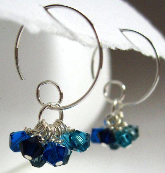 Swarovski Earrings   Jewelry, Diy earrings, Wire wrapped ...
