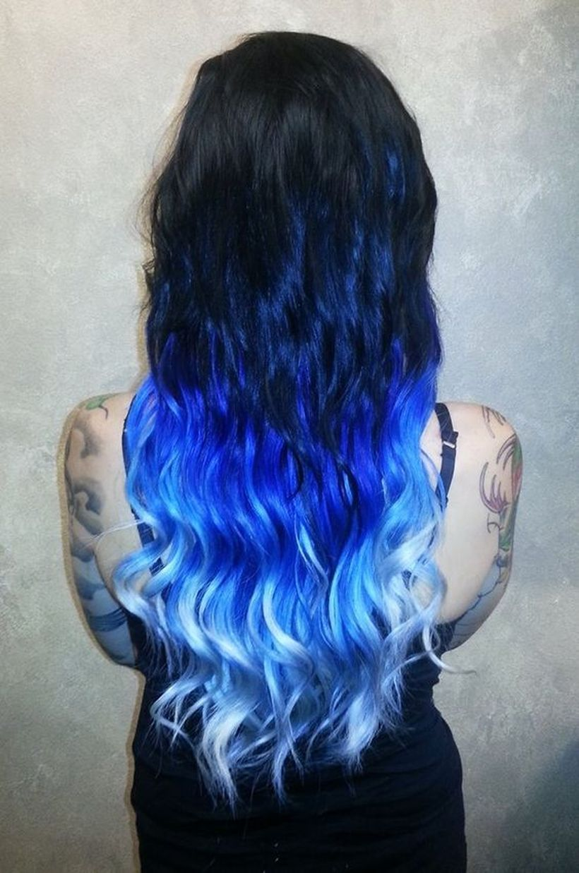 crazy colorful hair coloring ideas for long hair that will