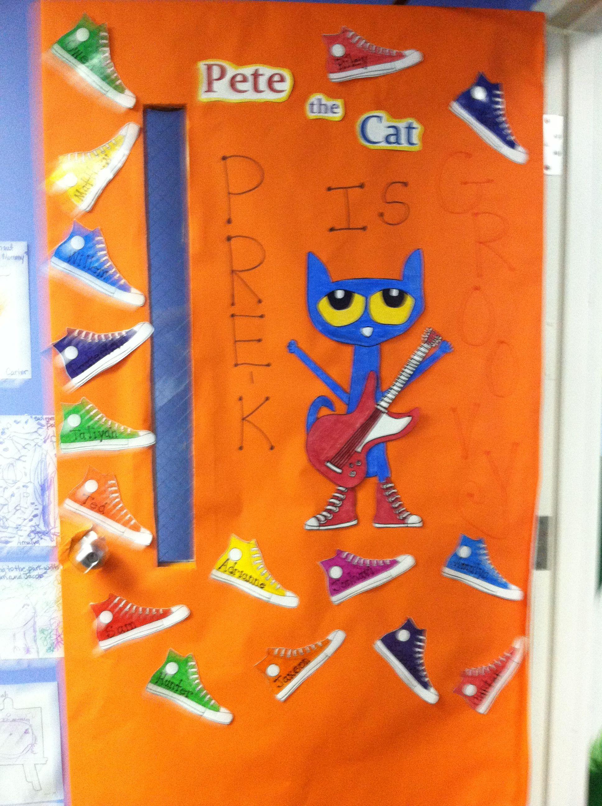 Pete The Cat It S All Good In Preschool Place On Door