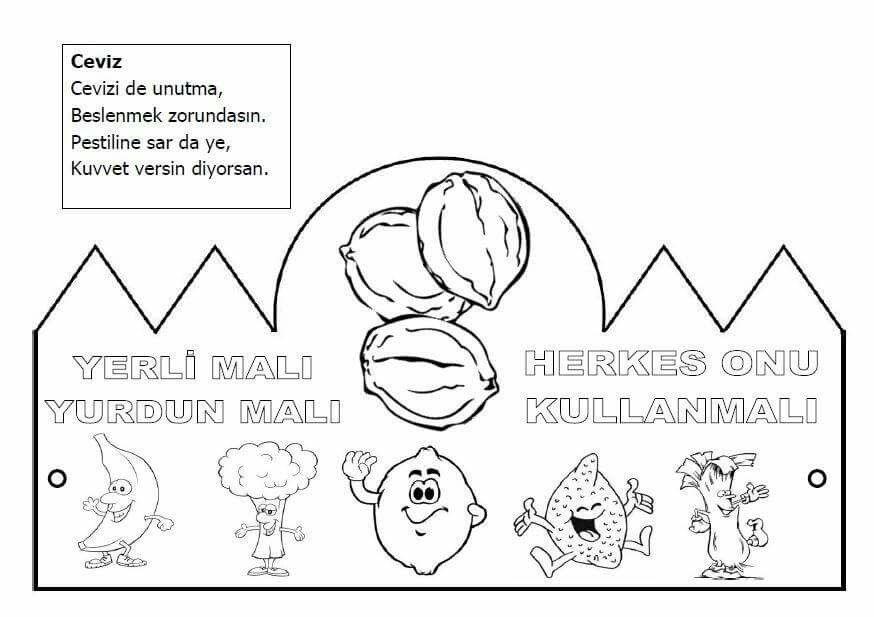 Yerli Mali Boyama Sayfalari Okul Faaliyetler