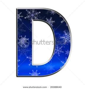D is for snowy Diana