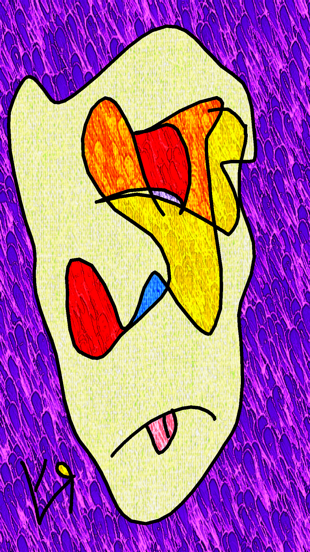 """Self Portrait (Exploding Face)"" by Richard F. Yates"