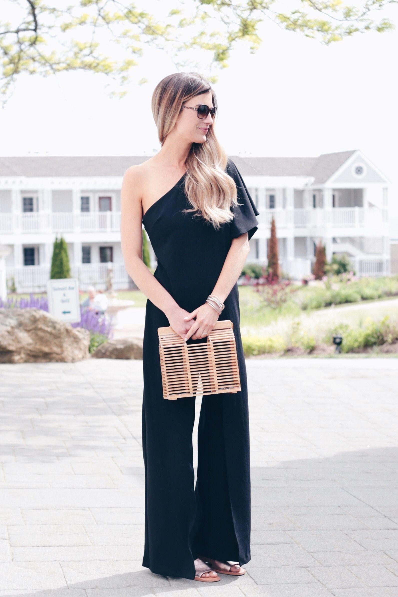 12caacdb05f one shoulder black formal jumpsuit on pinteresting plans fashion blog with   lordandtaylor  sponsored