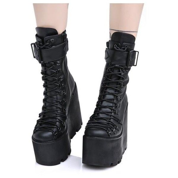 boots, punk platform shoes
