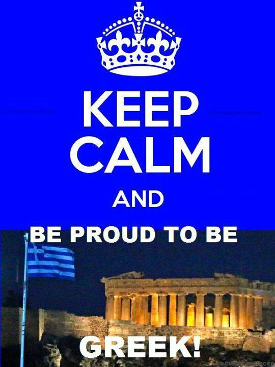 Yes, you were so proud to be a Greek!