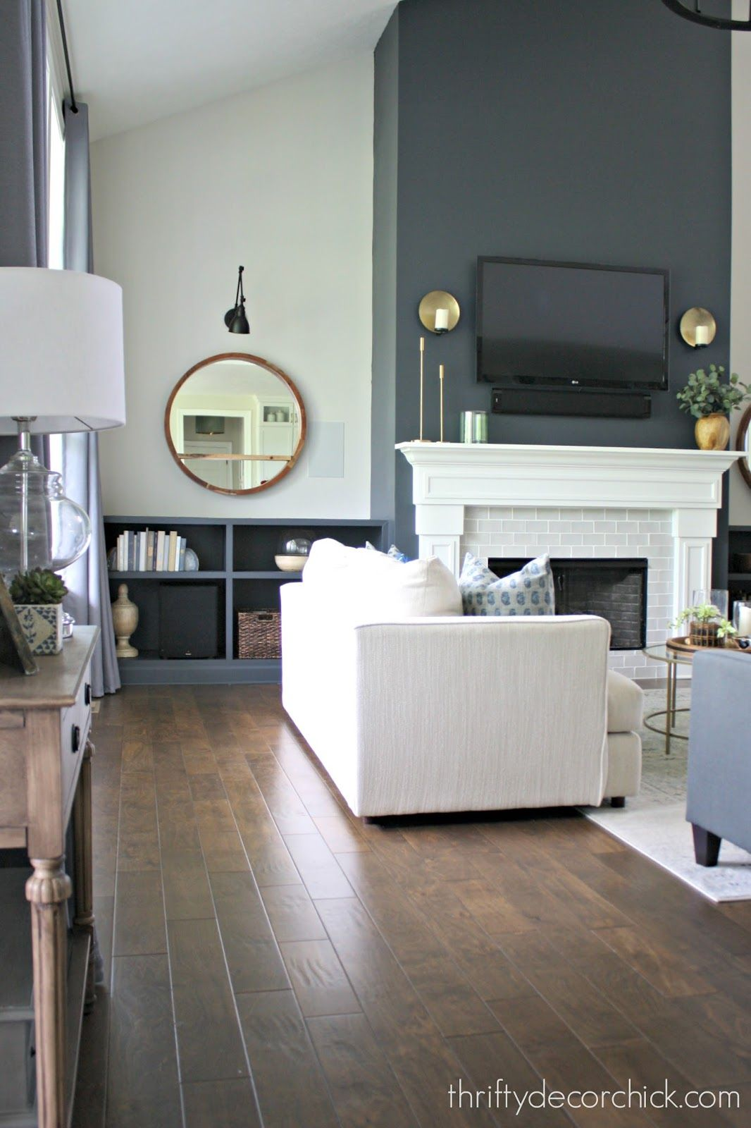 Photo of Our finished family room transformation!