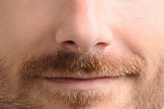 Fake Nose Septum Gold Septum Gold Nose Ring Fake Nose Ring Etsy