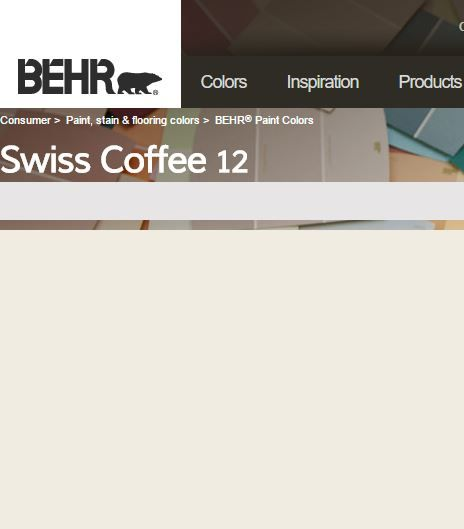 Trim And Doors Swiss Coffee Behr Semi Gloss Paint Colors For Home Floor Dining Room