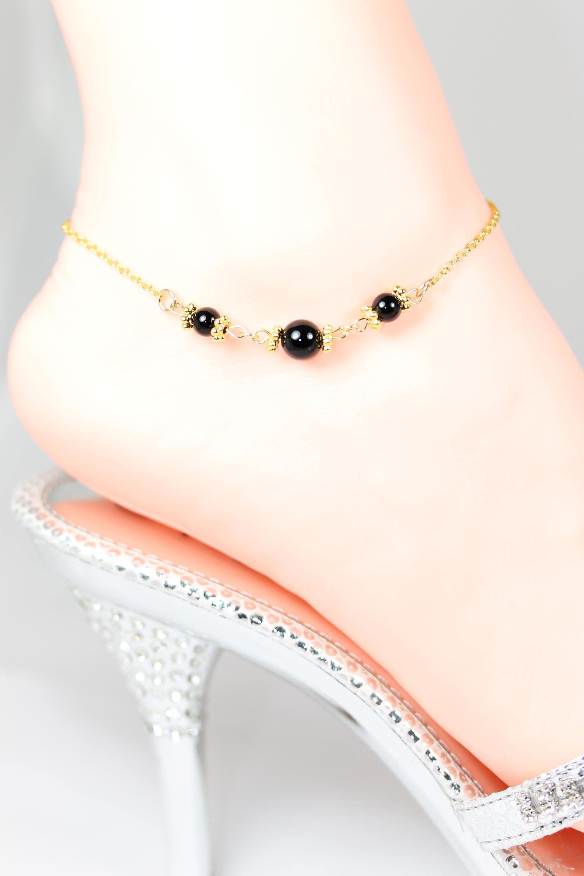 beaded bracelets popular boutique ankle category gold anklet product image labradorite royalty