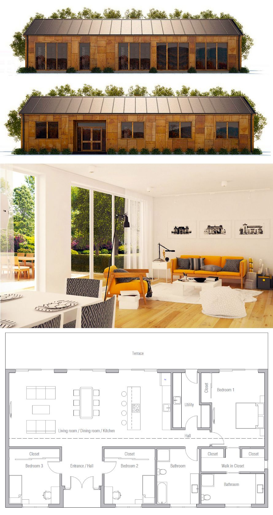 Single story home plan also housing house plans container rh pinterest
