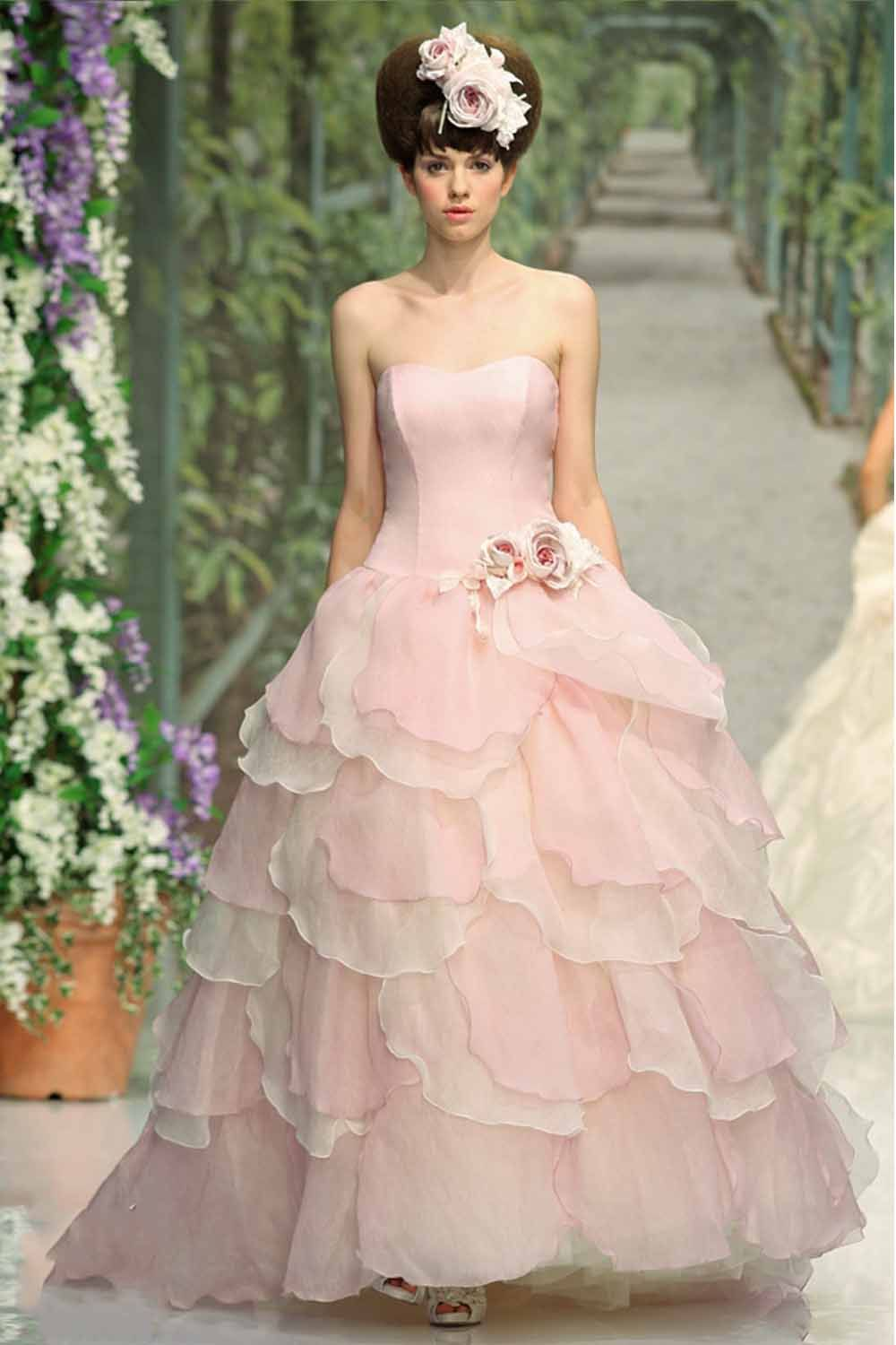 17 Best images about Pink Wedding dress on Pinterest | Pink gowns ...