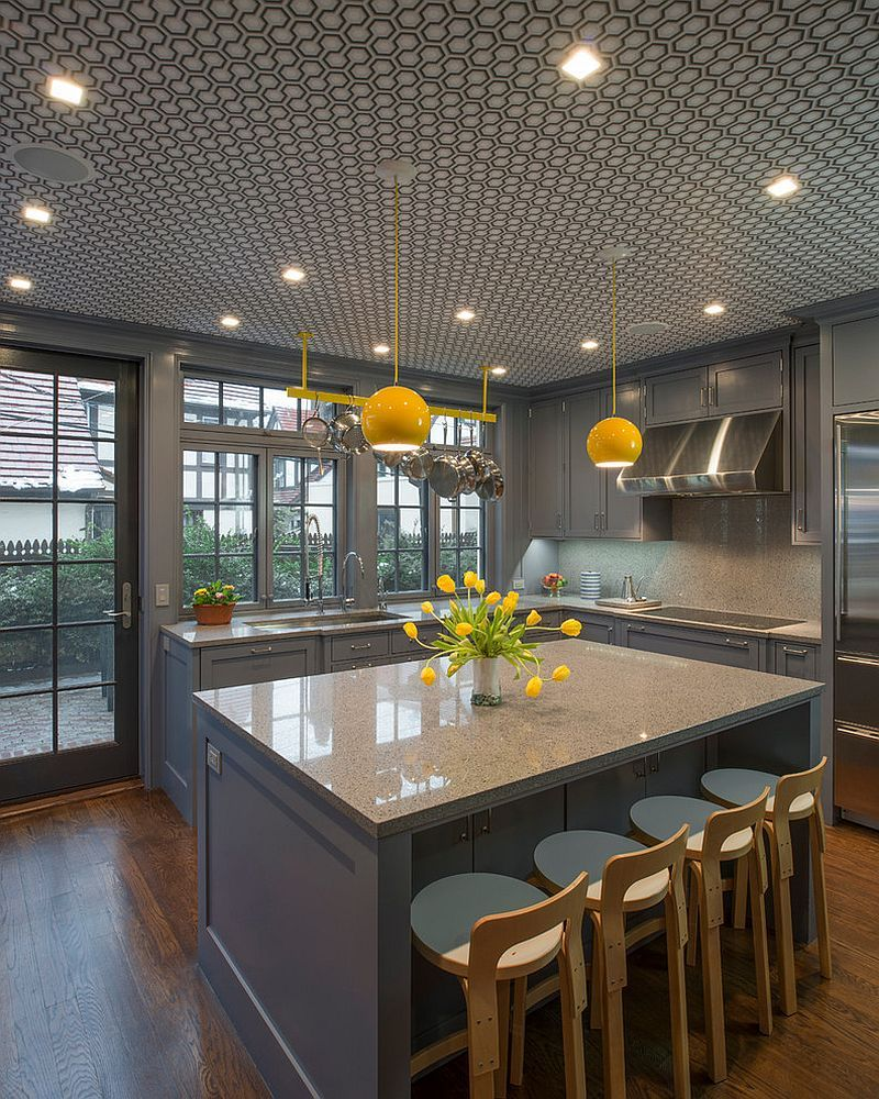 Best 11 Trendy Ideas That Bring Gray And Yellow To The Kitchen 640 x 480