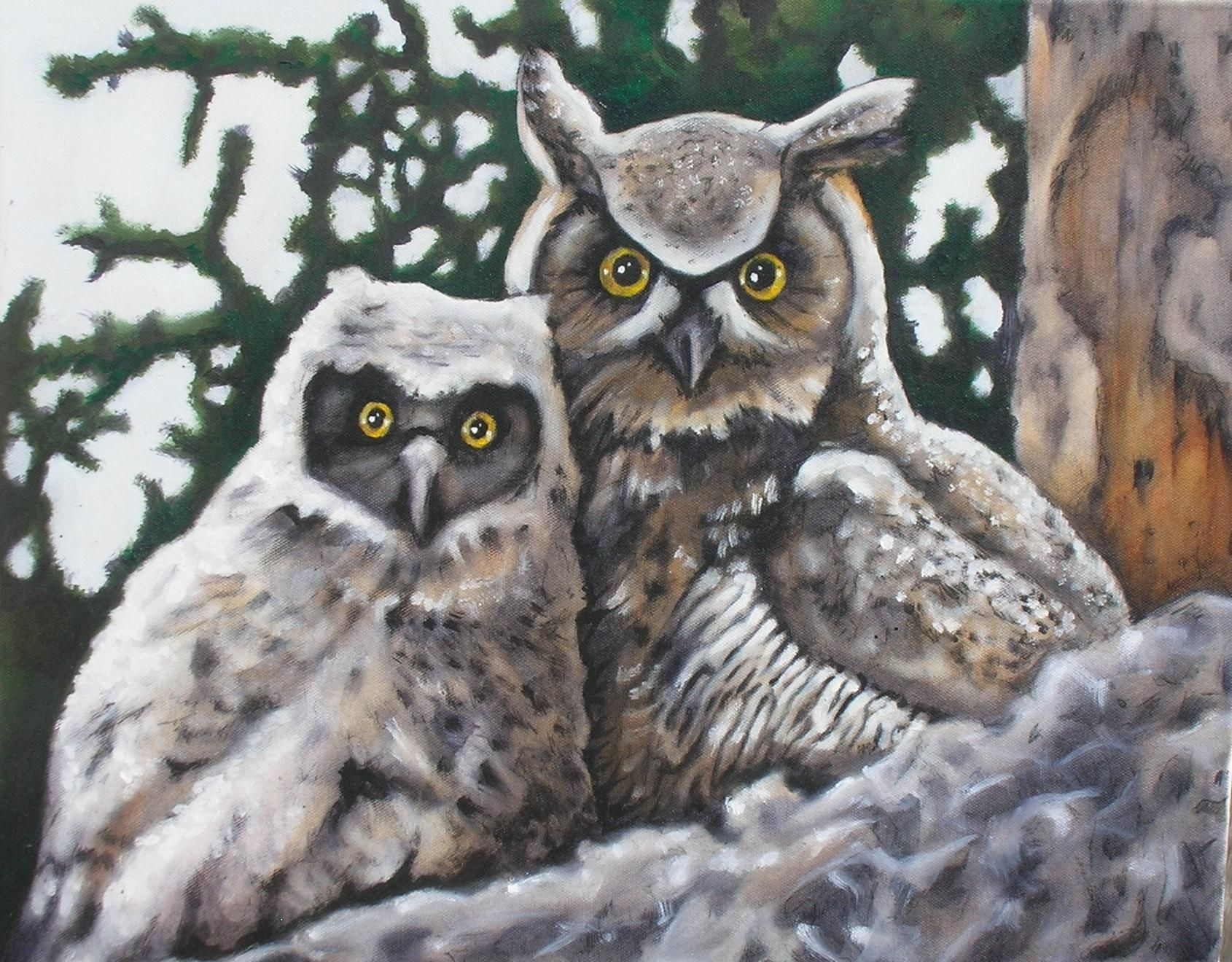 Oil Paintings Owls Cfbccbfdaae