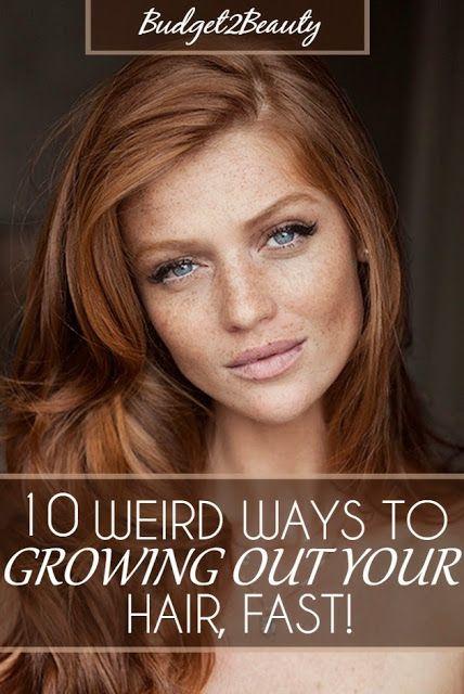10 Weird Ways To Grow Out Your Hair Fast Grow Hair Your Hair Hair Beauty
