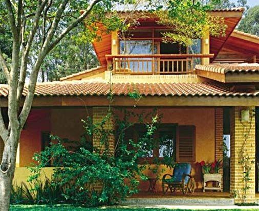 Fachada rustica a casa na fazenda pinterest estilo - Fachada de casas rusticas ...
