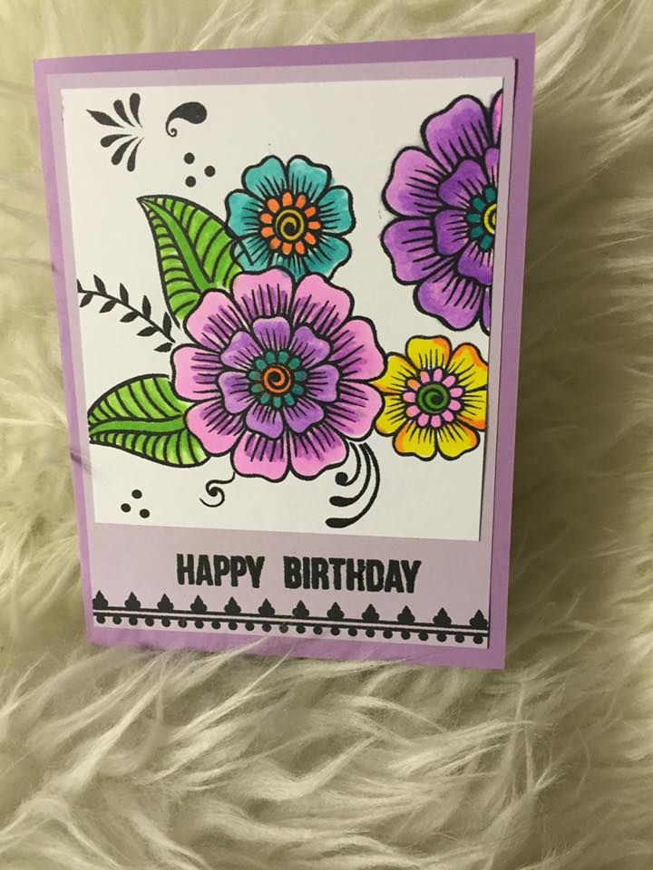 A Birthday Card Created By Peggy Nation Mccullar Which They