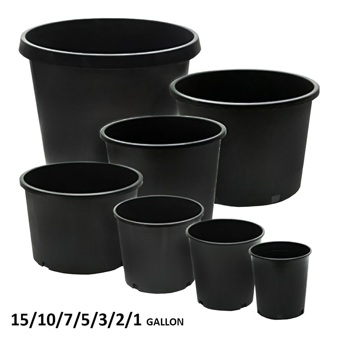 Calipots 5pack 5 Gallon Premium Black Plastic Nursery Plant Container Garden Planter Pots 5 Gallon Ch Plastic Plant Pots Garden Planters Pots Plant Nursery