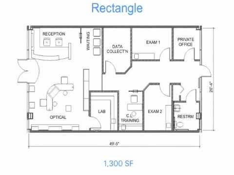 Optical office design secrets 1 floor plan layouts for Office layout design