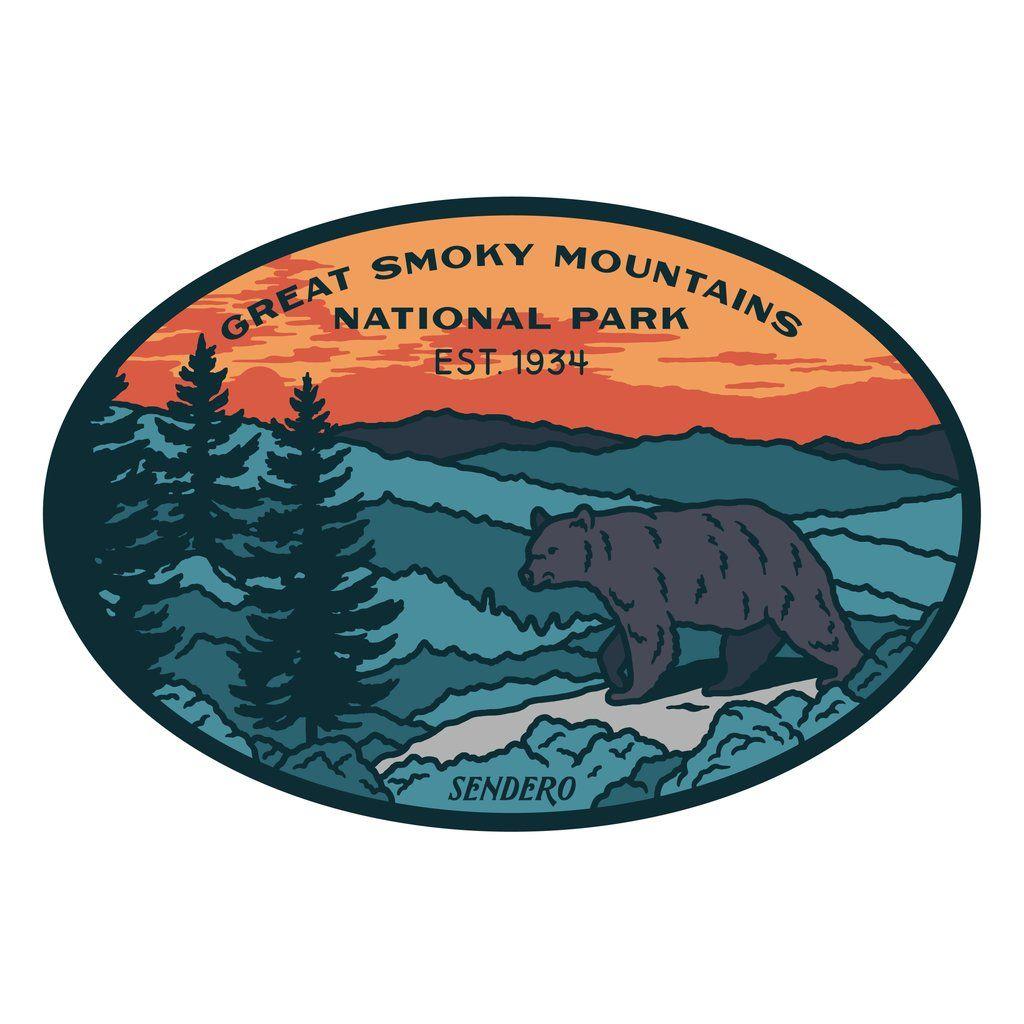 Smoky Mountains National Park Sticker Smoky mountain