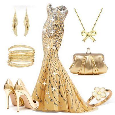 golden dress | Prom | Pinterest