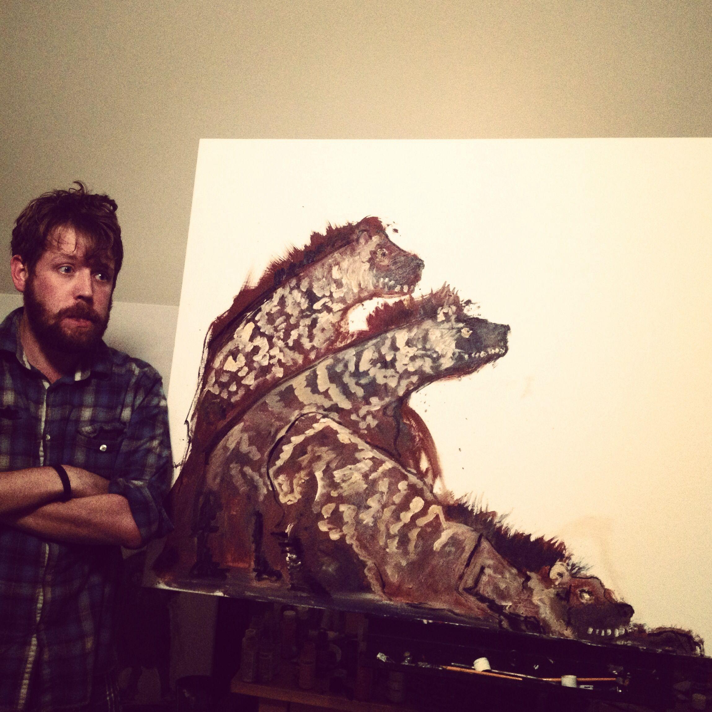 Hyenas  #art #painting