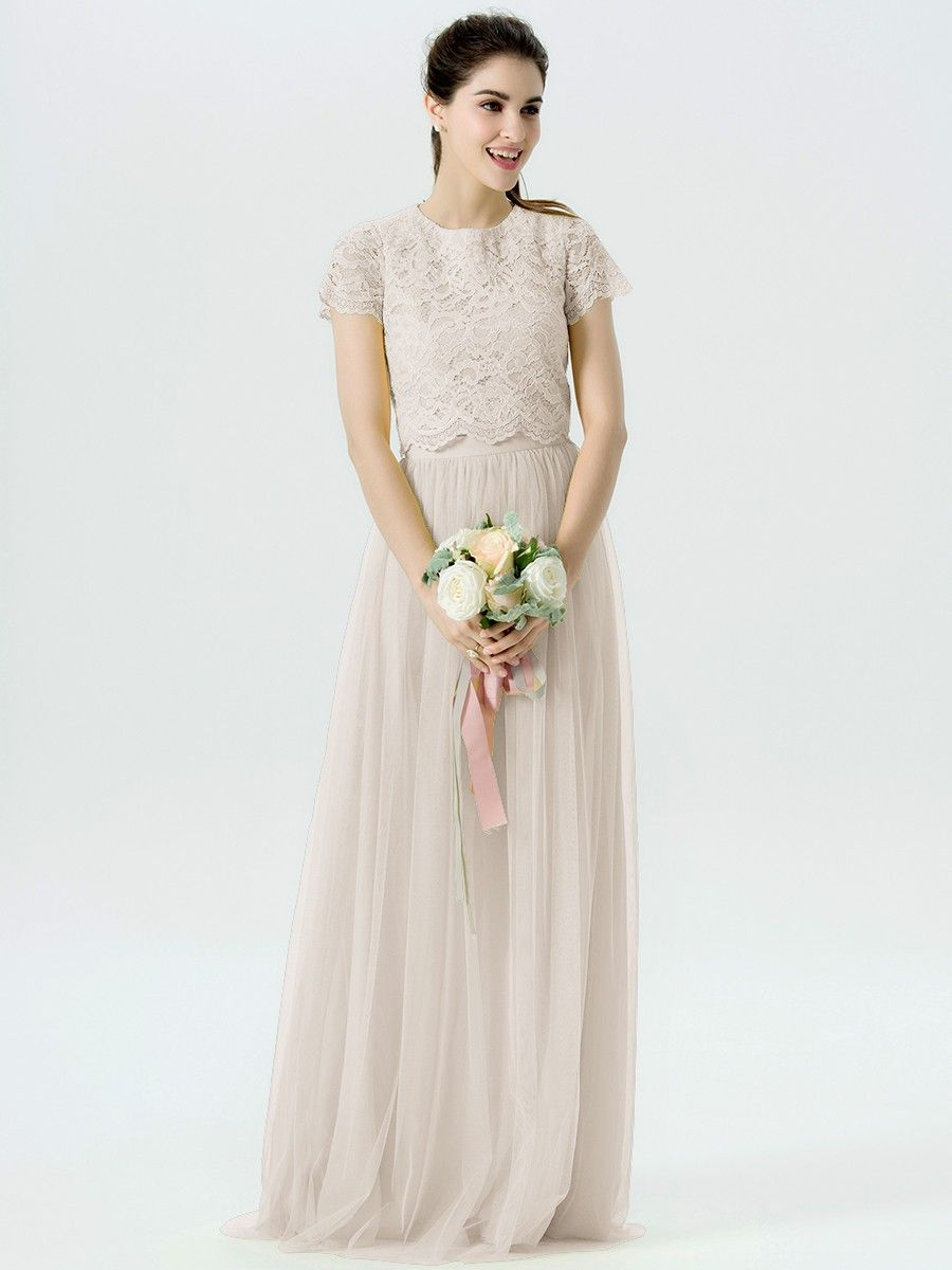 piece lace tulle dress with short sleeves the wedding for real