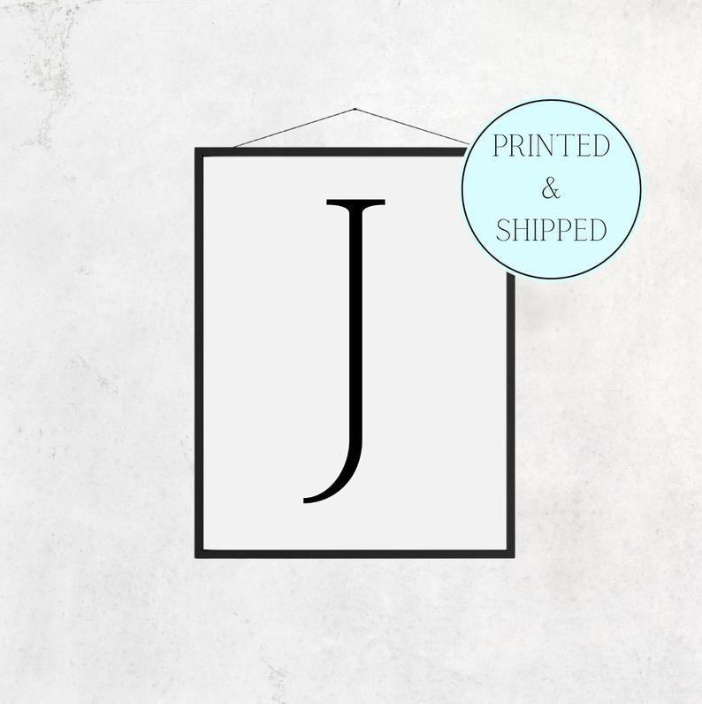 J Print Letter J Print Alphabet Print Letter Print Simple   Etsy