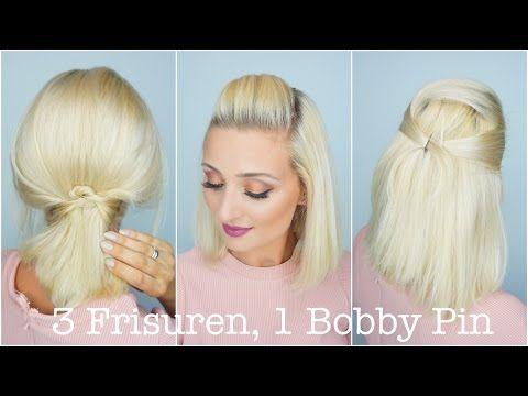 3 Frisuren 1 Bobby Pin Olesjaswelt Youtube Hair Makeup Beauty Hair