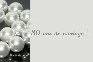 Carte D Invitation A Personnaliser En Ligne Noces De Perle Carte Anniversaire De Mariage 30 Ans De Mariage