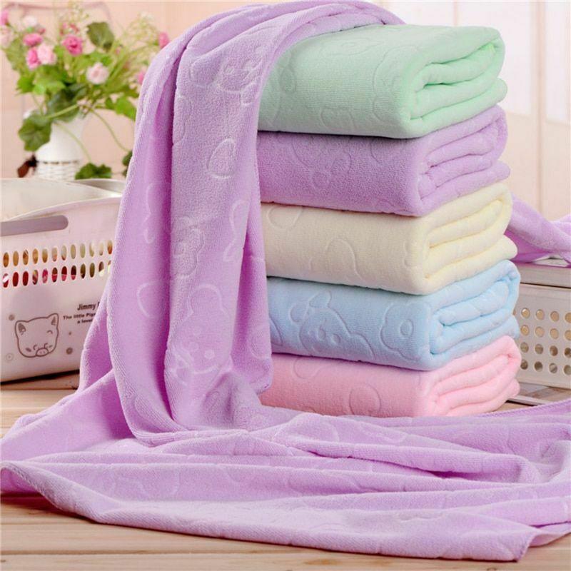 Thick Soft Absorbent Microfiber Fiber Beach Drying Bath Toilet Soft Towel G