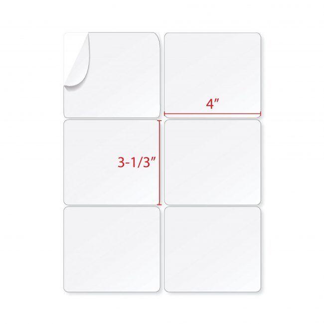 """3-1/3"""" X 4"""" Address Labels (6 Labels Per Sheet)"""