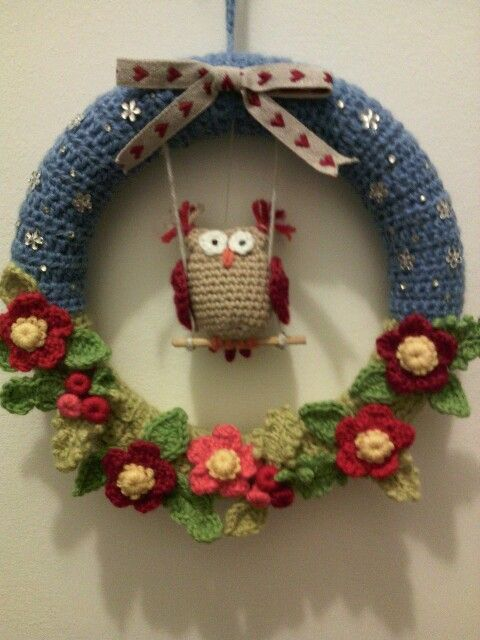 Ghirlanda Natalizia All Uncinetto Ajtódísz Crochet Wreath