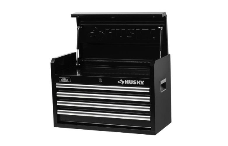 Husky 26 In 4 Drawer Tool Chest Cabinet Set Box Storage Locking