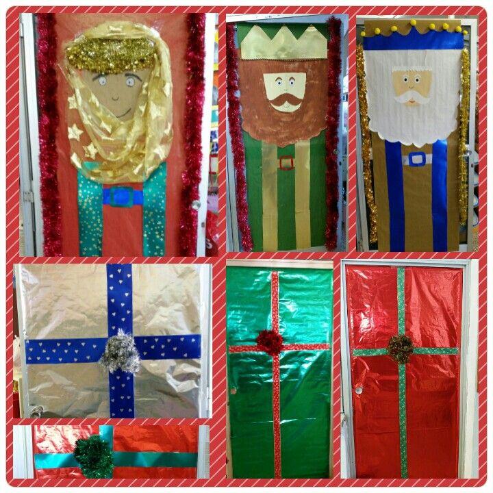 Puertas de la clase decoradas navidad chritsmas for Puertas decoradas navidad material reciclable