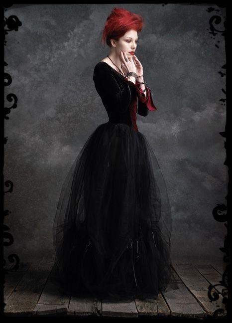 Dark Gothic Clothing   Gothic Clothing & Dark Romantic Goth Couture - Camellia Gothic Wedding ...