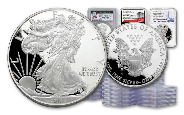 100pc 2017 S 1 Dollar 1 Oz Silver Eagle Ngc Pcgs Pf69 Fr Er Fs Silver Eagles Silver Eagle