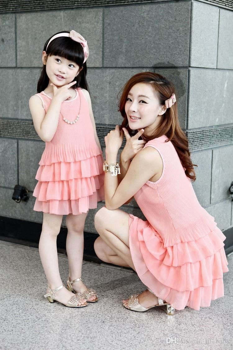 d1424da6e9ea Wholesale 2014 fashion summer dresses chiffon princess one-piece dress for Family  fashion clothes for mother and daughter summer, Free shipping, ...