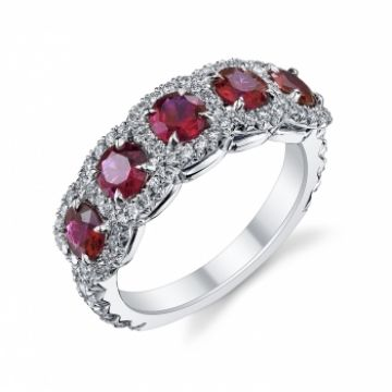 Omi Gems: Ruby and Diamond Ring #rubies #jewelry